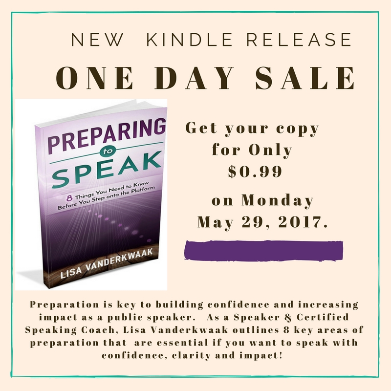 Preparing To Speak 99 Cents Promo