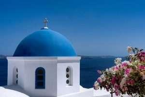 Santorini Greece Blue dome